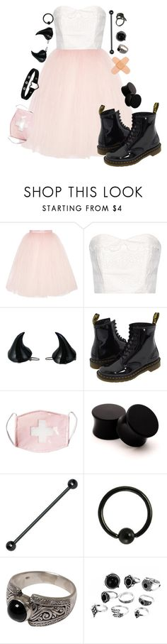 """""""Innocent? You make me laugh"""" by xxstar-childxx ❤ liked on Polyvore featuring Ballet Beautiful, The Great, Kreepsville 666, Dr. Martens and NOVICA"""
