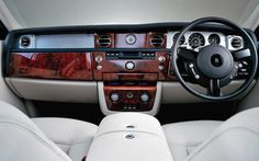 Photographs of the 2004 Rolls-Royce Phantom. An image gallery of the 2004 Rolls-Royce Phantom. Rolls Royce Phantom Interior, Vintage Rolls Royce, Maybach, Gto, Fire Trucks, Luxury Cars, Luxury Travel, Classic Cars, Automobile