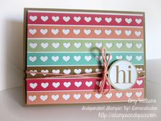 Stampin Up Hearts Border Punch Card, Regarding Dahlias, In Colors, Awesome Handmade Card