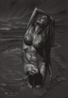 Figure 16, Leo Plaw, 24 x 34cm, pastel pencil on coloured paper. #art #drawing #figurativeart