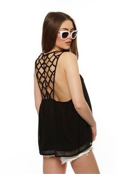 Cut Out Backless Top - ΡΟΥΧΑ -> Μπλούζες | Made of Grace