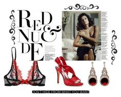 Red and Nude by airrazor23 on Polyvore featuring polyvore fashion style Christies Caparros clothing