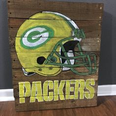 Green Bay Packers NFL Wooden Painted Pallet by ParkwoodPallets