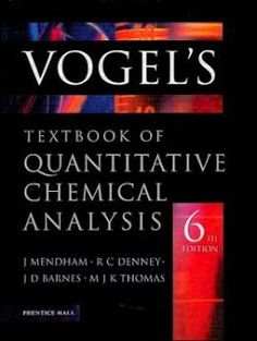 Free download principles of instrumental analysis sixth edition by stuff vogels textbook of quantitative chemical analysis fandeluxe Choice Image