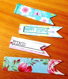 In The Pocket Tip: maak labels, met of zonder tekst, van je paper scraps! Meer…