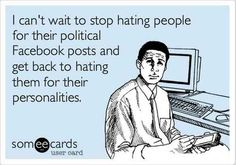 Anyone ever feel like this during #election times? Tweet your thoughts @OnlyHonestInc. #politics #Facebook