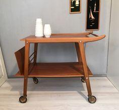 Vintage Tische - Servierwagen aus Holz MID CENTURY 50`s 60`s No.2 - ein Designerstück von Mid-Century-Frankfurt bei DaWanda