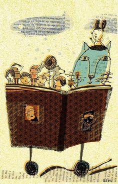 Isol, Mejor leer juntos! bibliolectors:  Better read together / Mejor leer juntos! (ilustración de Isol)