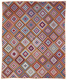 Many Trips Around the World: A simple square reaches new heights of grandeur in this antique quilt.