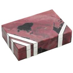 Cartier, A Sterling Silver and Thulite Box | From a unique collection of vintage boxes and cases at https://www.1stdibs.com/jewelry/objets-dart-vertu/boxes-cases/