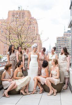 Tribeca Rooftop Wedding - http://fabyoubliss.com/2015/06/11/chic-pink-lace-and-gold-tribeca-rooftop-wedding