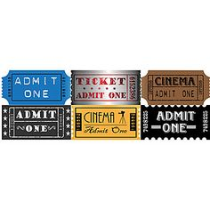 Hollywood Tickets to use on walls!