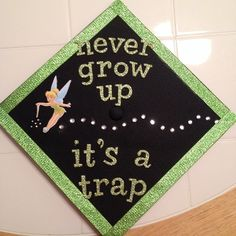 Tinkerbell graduation cap!  So cute!  Would be adorable in a senior pic!