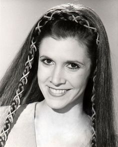 """Carrie Fisher Star Wars - """"Return of the Jedi"""" - Endor - Princess Leia hair. Description from pinterest.com. I searched for this on bing.com/images"""