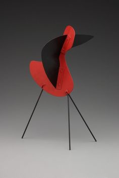 Alexander Calder. 'Big Bird' painted sheet metal and wire