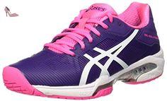 Gel-Solution Speed 3, Chaussures de Tennis Homme, Multicolore (Indigo Blue/White/Lime), 42 EUAsics
