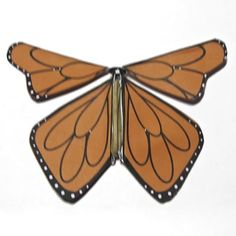 How to make a fluttering monarch butterfly that flies out to meet card recipient.