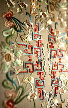 ♒ Enchanting Embroidery ♒ embroidered decorations after the renovation of the Juanqin Studio, Forbidden City, China | Zimbio