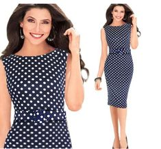 check this amazing office polka dress Office Wear, Amazing, Check, How To Wear, Collection, Dresses, Fashion, Vestidos, Moda