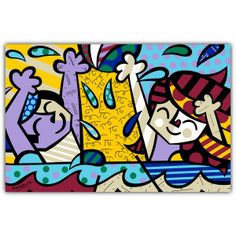 PAMESA BY BRITTO | PLAY | CERAMIC Pamesa by BRITTO is an exclusive line of ceramic tiles featuring the vibrant and colorful illustrations of world renowned artist Romero Britto. BRITTO Play available in 34 CM by 50 CM tiles. #ParmesaByBritto #Britto #MOTW