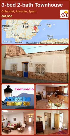 3-bed 2-bath Townhouse in Chinorlet, Alicante, Spain ►€69,950 #PropertyForSaleInSpain