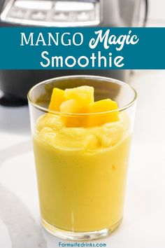 Mango Magic Tropical Smoothie Recipe, Tropical Smoothie Cafe, Pineapple Smoothie Recipes, Mango Recipes, Easy Smoothie Recipes, Easy Smoothies, Smoothie Ingredients, Fruit Smoothies, Diet Recipes