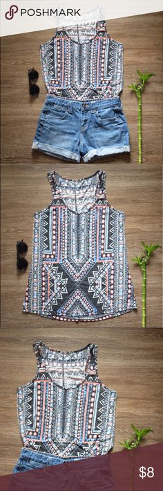 Tribal Print Tank! Super cute tribal print tank!                                                   • Size XS                                                                                   • In excellent condition Mossimo Supply Co Tops Tank Tops