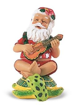 Island Heritage Strumming Santa on Honu Ornament >>> Learn more by visiting the image link.