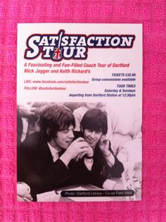 The Rolling Stones - Mick Jagger, Keith Richards - SATISFACTION TOUR post card