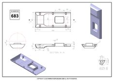 3D CAD EXERCISES 683 - STUDYCADCAM Mechanical Engineering Design, Mechanical Design, Sheet Metal Drawing, Metal Sheet Design, Solidworks Tutorial, Isometric Drawing, Surface Modeling, Cad Cam, Cad Drawing