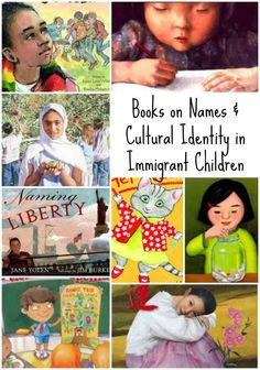 Books about Immigrant Children and their names & cultural identity. Incredible resource for ESL teachers, especially for the beginning of the year (or any teacher with lots of immigrants). Pre-reading and post-reading questions, and writing prompts that w Good Books, Books To Read, Esl, Cultural Identity, Cultural Diversity, Cultural Studies, Khadra, Mentor Texts, Children's Literature