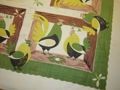 Vintage LEACOCK Tablecloth Rooster in the by unclebunkstrunk, $79.99