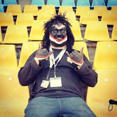 Vodafone Warriors member 'The Mt Smart Rocker' #Fan #WarriorsForever #Dressup #Costume #Stadium #Warriors #member