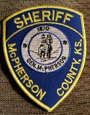 McPherson County Sheriff's Department Kansas police patch