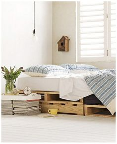 couple different pallet beds...yes, I'm a bit obsessed with pallets at the moment.
