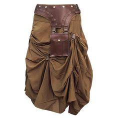 Isha Cotton Vintage Steampunk Skirt