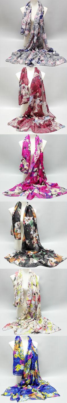 10 Pcs/lot Ink Painting Floral Viscose Shawl Bufandas Mujer Infinity Ring Wrap Pashmina Sjaal Echarpe Foulard Snood Muslim Hijab $30