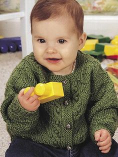 Babies & Children's Knitting - Children's Clothing Knitting Patterns - Peas in a Pod Cardigan