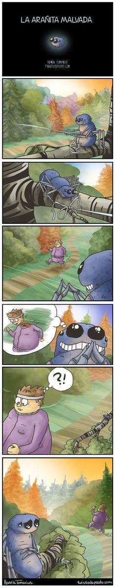 La arañita malvada