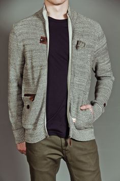 Zip Through Cardigan / Marshall Artist
