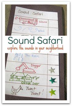 five senses activity sound