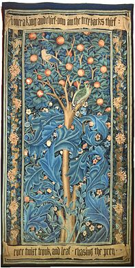 "William Morris ""The Woodpecker"" tapestry from 1885 - great Arts & Crafts"
