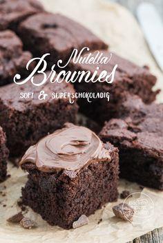 Chewy, soft und unglaublich köstlich: Diese einfachen Nutella-Brownies sind das perfekte Gebäck für alle Schokoholics! Brownies mit Nutella gehen immer, wenn ihr Lust auf viel Schokolade habt