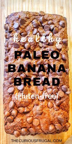 Healthy Banana Bread (Gluten-free/paleo) Stevia Banana Bread Recipe, Banana Bread Almond Flour, Baking With Almond Flour, Gluten Free Banana Bread, Almond Flour Recipes, Healthy Banana Bread, Chocolate Chip Banana Bread, Banana Bread Recipes, Chocolate Chips