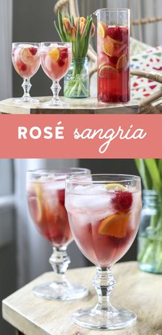 This Rosé Sangria is the perfect blend of citrus, fresh berries, and rosé. A perfect #cocktail recipe for #spring and summer entertaining. #sangria #rose via @inspiredbycharm
