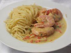 Pasta mit Garnelen in Kokos-Sahne-Soße, ein sehr leckeres Rezept aus der Kategorie Kochen. Bewertungen: 12. Durchschnitt: Ø 4,5.