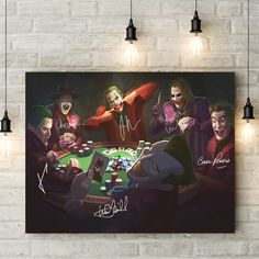 Are You a True Joker Fan ? Of course you are ! This poster is the perfect gift for any Joker lover! Made in the USA 🇺🇸. Joker Art, Joker Batman, Joker Poster, Gothic Fantasy Art, Lore Olympus, Harley Davidson Dyna, Canvas Poster, Joker And Harley Quinn, Comic Character