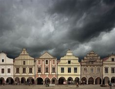 16th c. houses in Telc, Czech Republic (photo by Michael Eastman)