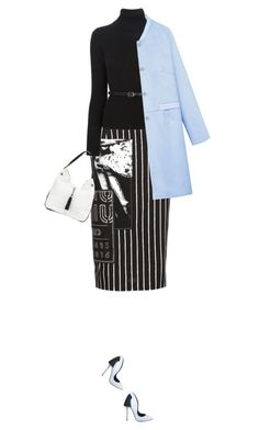 """""""#1041"""" by celida-loves-pink ❤ liked on Polyvore featuring Miu Miu, Dsquared2, WithChic, Charles Jourdan, outfit, blackandwhite, outfits and outfitideas"""