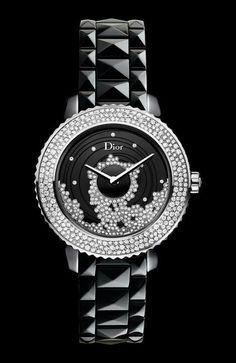 Organic rhinestone pattern Dior watch